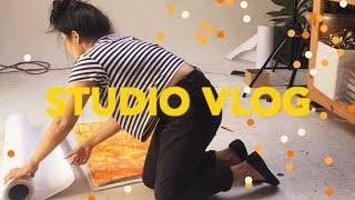 One of furrylittlepeach's most viewed videos: STUDIO VLOG (HUGE PAINTINGS + COMMISSION Q&A)