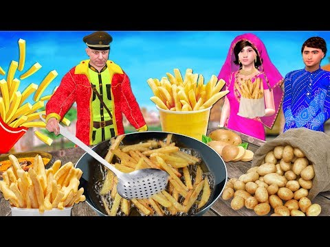फ्रेंच फ्राइज French Fries Hindi Kahaniya | Bedtime Moral St
