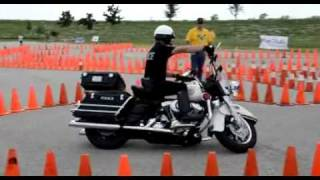 Police Officer Owns Motorcycle Skill Course
