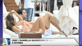 ¡Cesc Fàbregas y Daniella Semaan disfrutan de Ibiza!