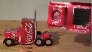 Mobil Mainan dari Kaleng Bekas Minuman