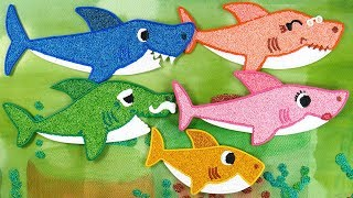 Coloring Pinkfong Shark family with Foam clay for Kids, Toddlers | Baby shark, clay kids
