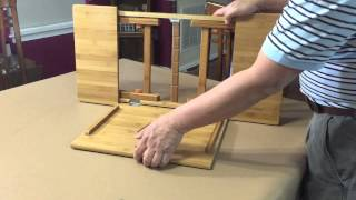 Aleratec Bamboo Adjustable Laptop Stand Up To 15in Tablet Reading Table Desk - Unboxing