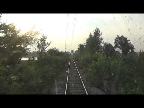 Train Driver's view: railroad in Serbia from Ostruznica to Surcin   1/3 - SERBIAN RAILWAYS