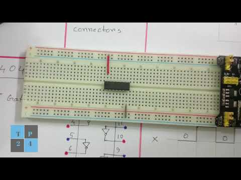 Digital Electronics Circuit in Breadboard: NOT/INVERTER Logic Gate, IC 7404 and  Truth Table