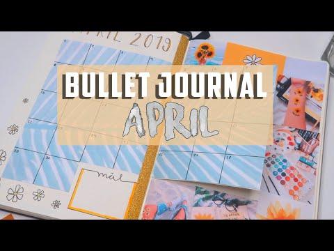 Bullet Journal APRIL 2019! Yellow Flower Theme   Mina Jacobsen (A)