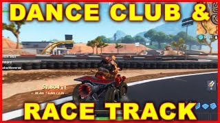 Fortnite Dance Club & Racetrack Location (Search Chests & Ammo OVERTIME CHALLENGE)