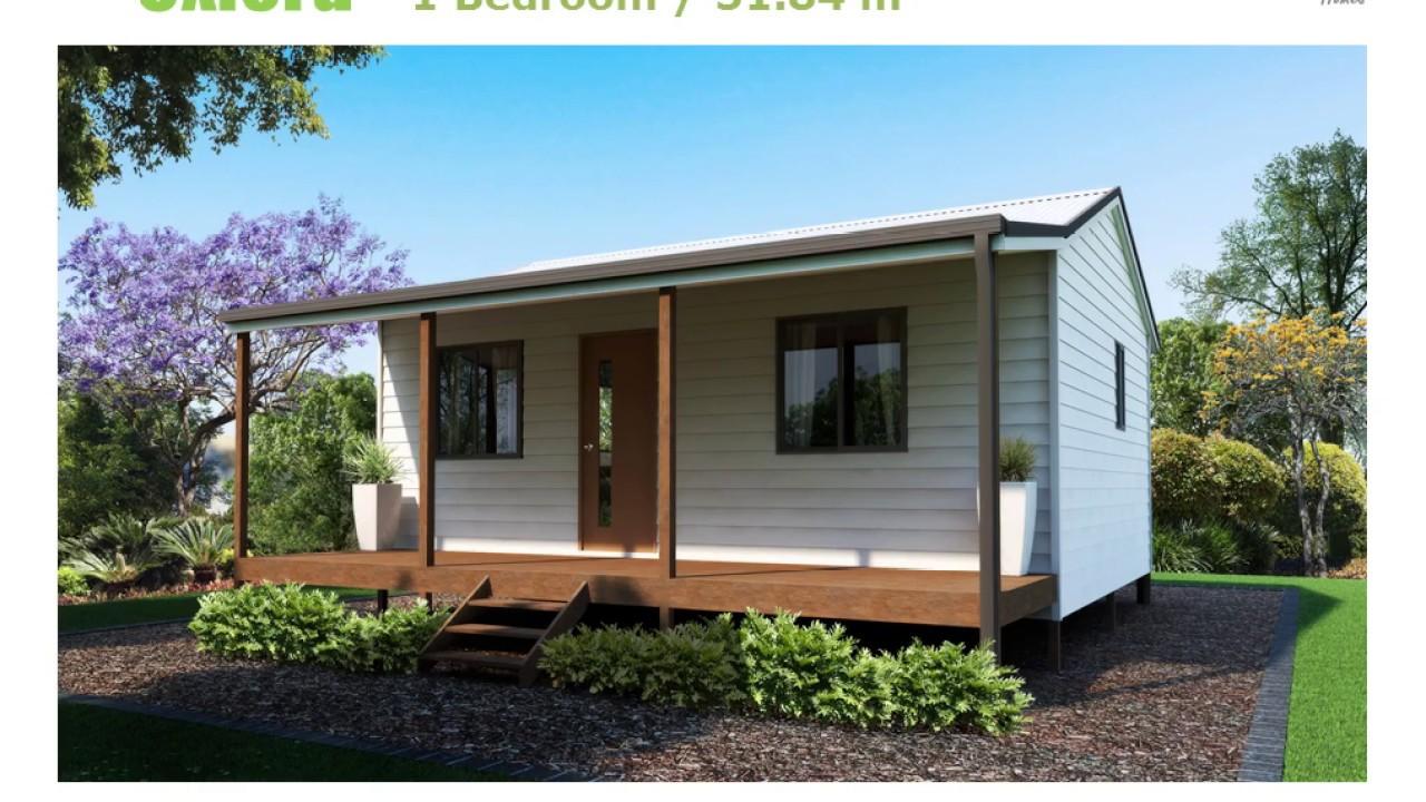 Ibuild kit homes design 1 bedroom oxford youtube for 1 bedroom kit homes