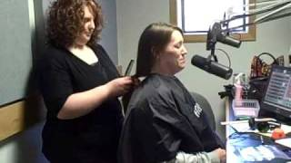 97.5 & 105.9 Cat Country St. Jude Radiothon - Dixie cuts her hair!
