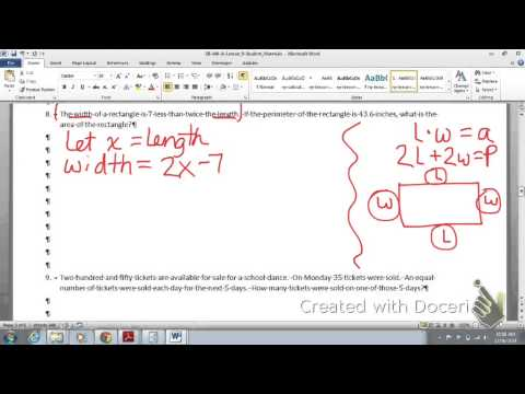 8th Math Module 4 Lesson 9