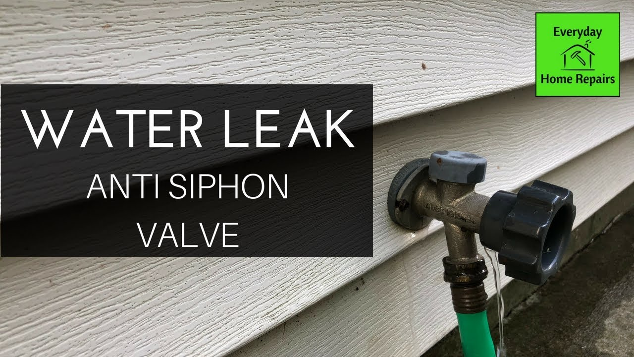 how to fix a water leak behind the handle of an outdoor faucet