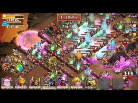 Castle Clash FINAL Expert Dungeon BEAT 630 TOTAL FLAMES IOS