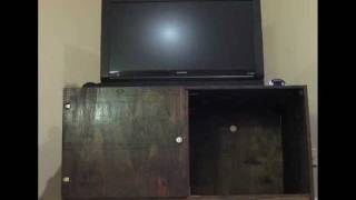 Entertainment Center Built By An Amateur