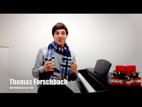 Weihnachtslieder deutsch: Stille Nacht, heilige Nacht - Piano Tutorial - Klavier lernen für Anfänger