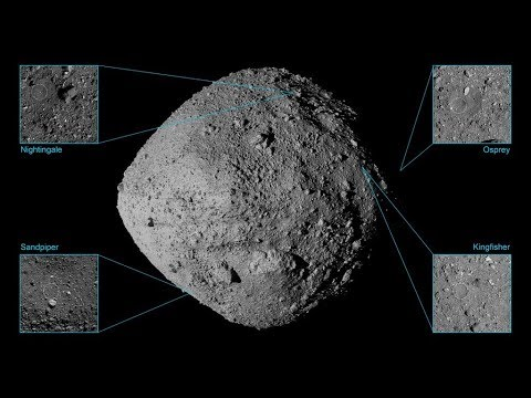 Here are the four spots where NASA's asteroid probe might land