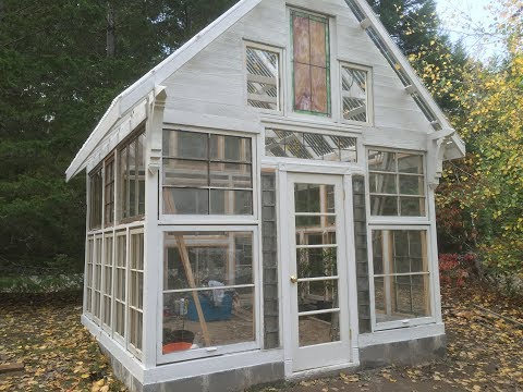 Building a Greenhouse out of Recycled Vintage Windows- Chapter 3- Installation of Windows