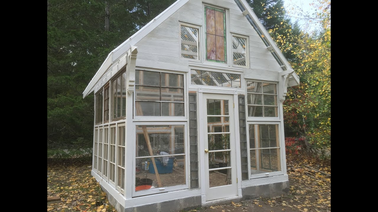 Building A Greenhouse Out Of Recycled Vintage Windows