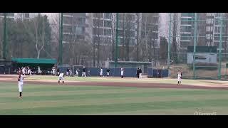 2021.3.19 선린중vs청량중 연습경기 투수 강민석
