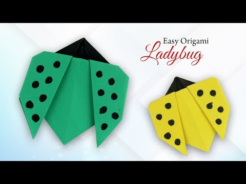 How To Make Easy Paper Ladybug (Ladybird) Step by Step - Easy Origami for Beginners #Origami Animals