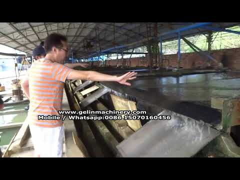 tin ore shaking table working plant
