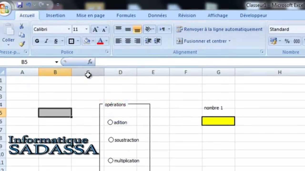 Vid 233 O 15 Utilisation Des Cases D Options En Excel 2007