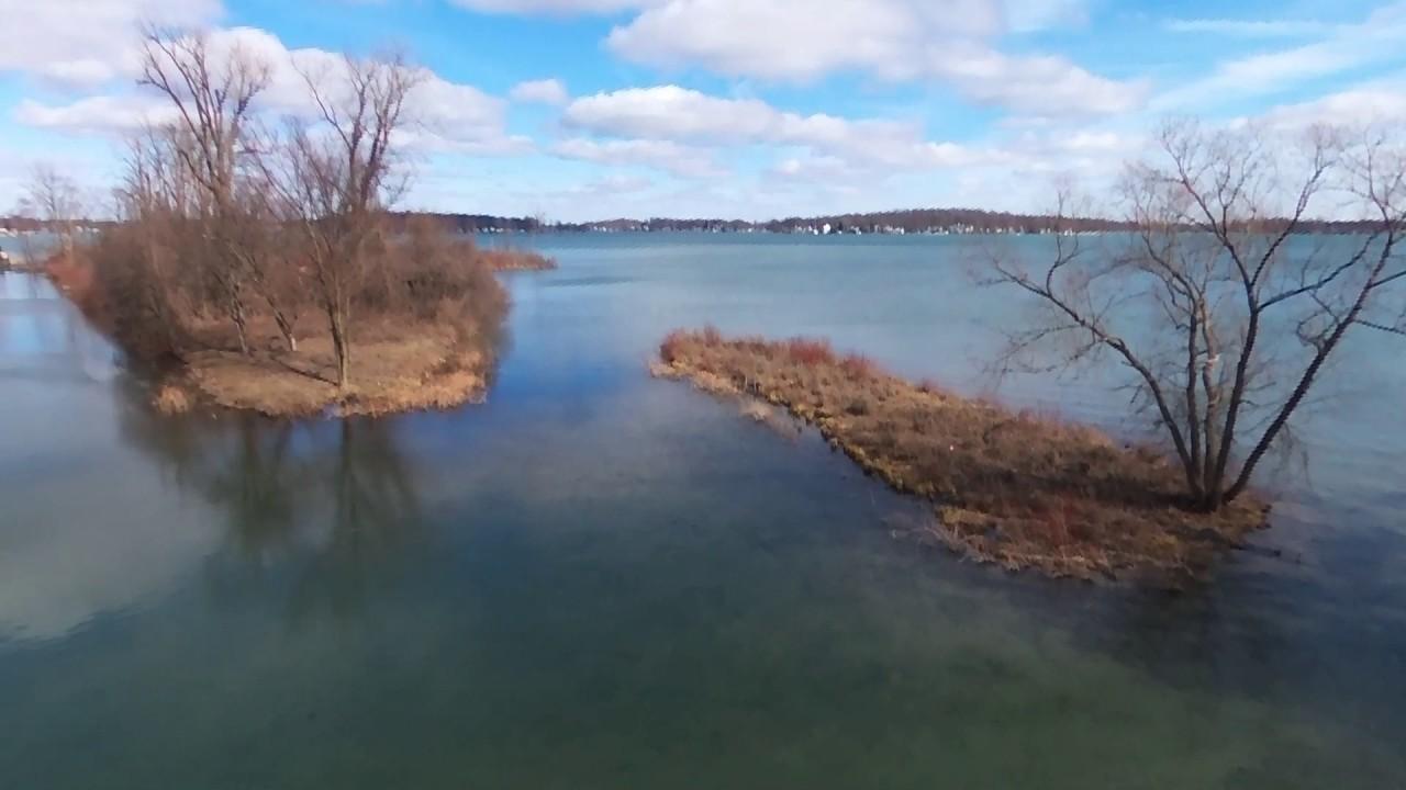 Diamond Lake In Cassopolis Michigan Via Drone Youtube