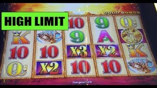 HANDPAY: 🐃 HIGH LIMIT 🐃 BUFFALO GOLD 🐃 handpay ($12 a spin) and other wins!