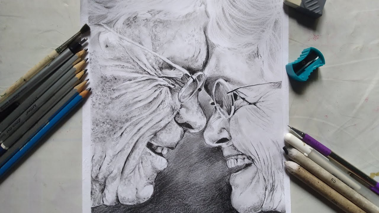 Let S Draw An Old Happy Couple By The Creation Youtube