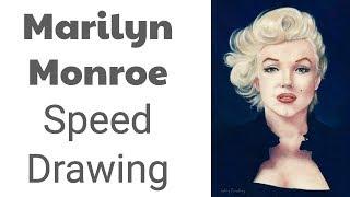 Marilyn Monroe Speed Drawing