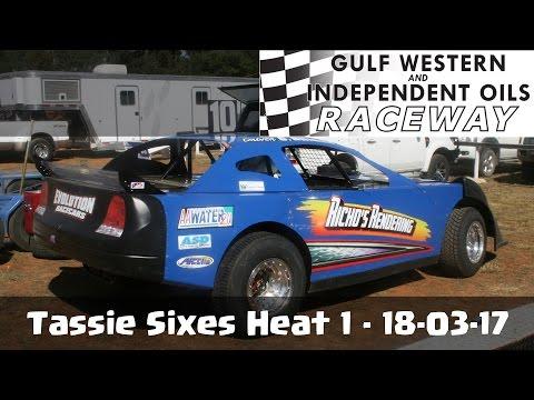 Tassie Sixes Heat 1 - Latrobe Speedway 18-03-17