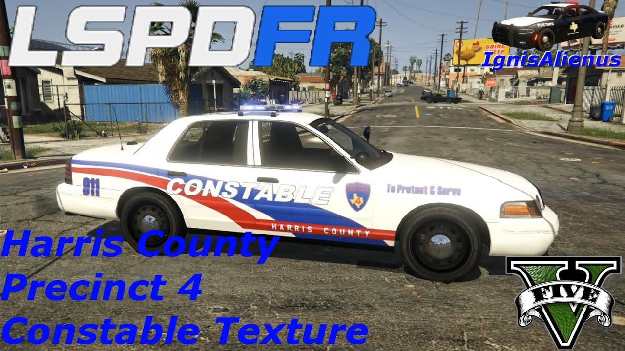 GTAV: LSPDFR - Mod Showcase: Harris County Precinct 4 Constable Texture  (CVPI)