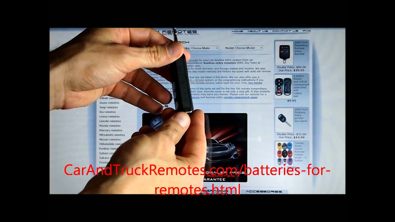 How To Replace Car Remote Control Battery