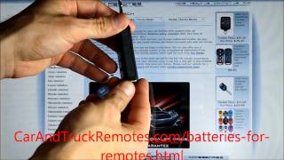 how to replace batteries in car remote keyfobs free instructions