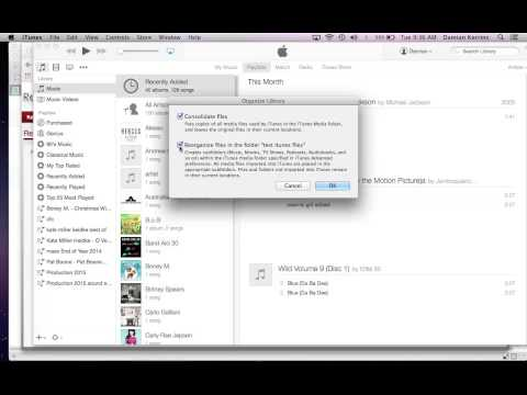 Consolidating Itunes Folder