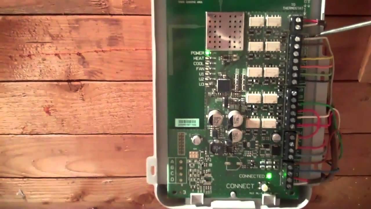 Honeywell Prestige IAQ Thermostat installation  YouTube