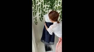 생활한복 허리치마 입는방법 (랩형식스커트)