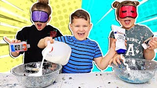 Blindfolded Slime PRANK Challenge!!! **BROTHER CHEATED** | JKrew