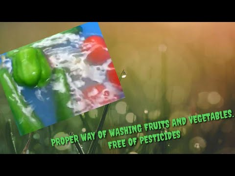 How to wash fruits and vegetables safely (Free from any pesticides)