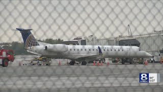 Emergency team responds when United Airlines plane lands at Rochester Airport