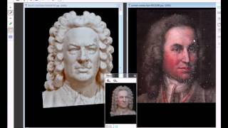 Morphing facial J S Bach - (Music :Jon schmidt - Air on the F String).