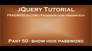 jQuery show hide password
