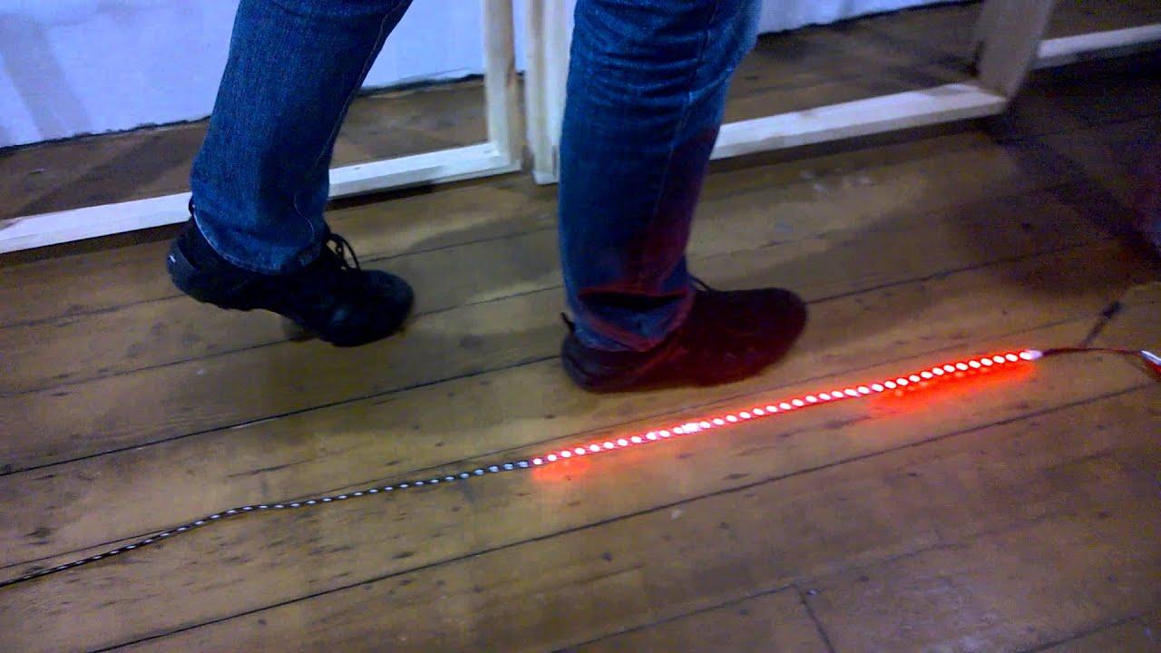Led Strip Distance Sensor Test Youtube