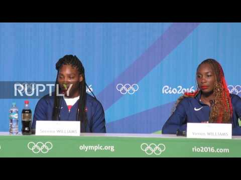 Brazil: Serena Williams and US tennis team arrive in Rio