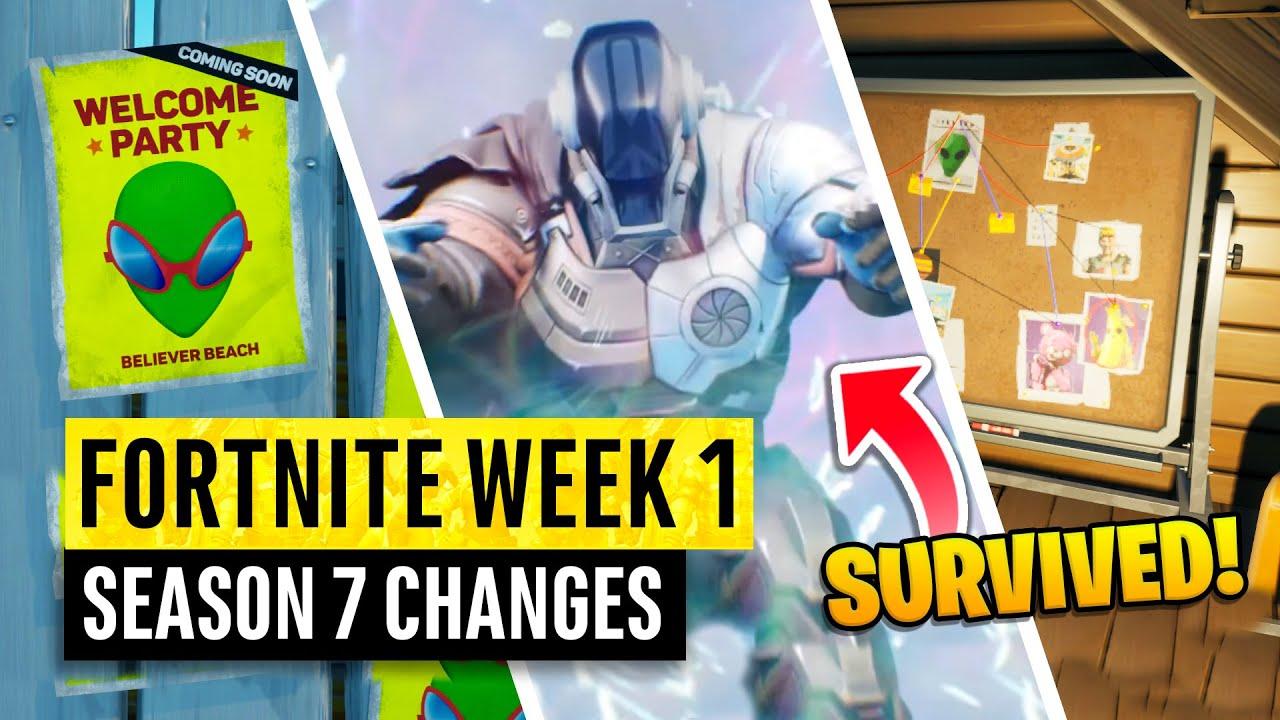 Fortnite | All Season 7 Map Updates and Hidden Secrets! WEEK 1 INVASION