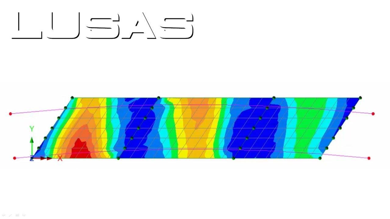 LUSAS skew slab deck modelling