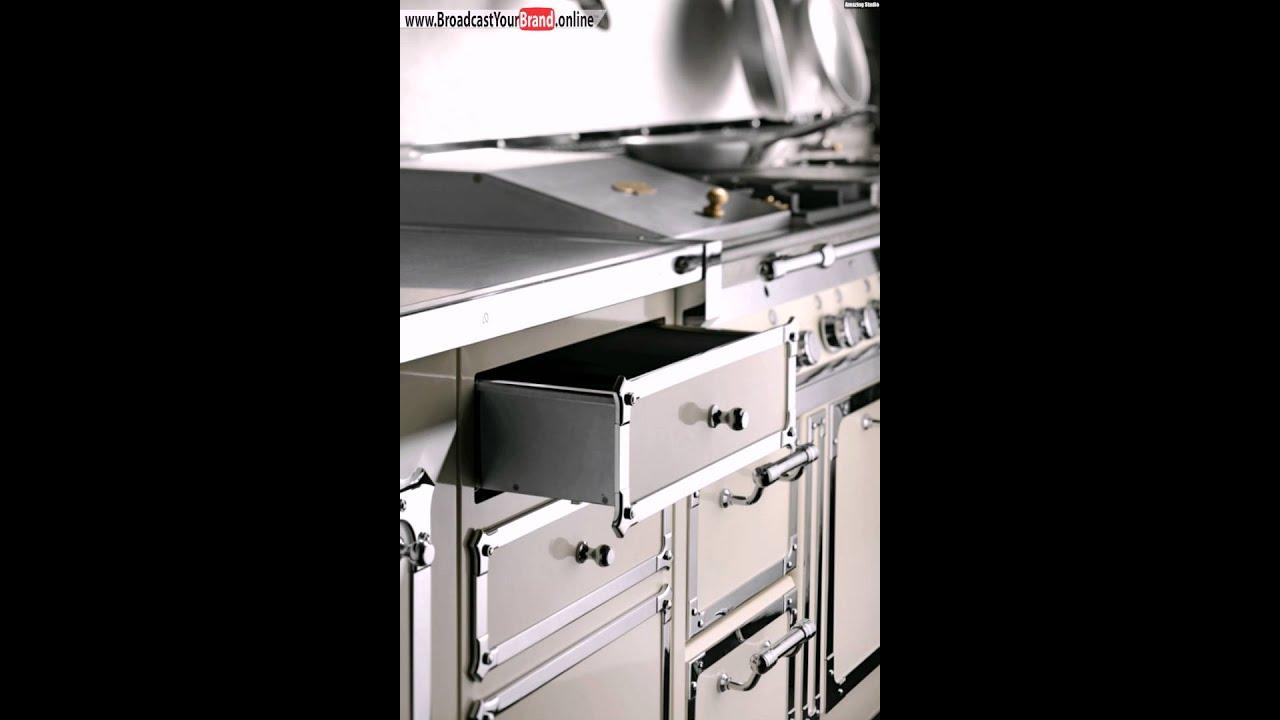 retro stil designer küche aus edelstahl  officine gullo