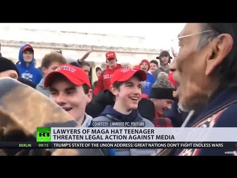 MAGA hat-e: Lawyers for Catholic-school teenager threaten media & celebrities with legal action