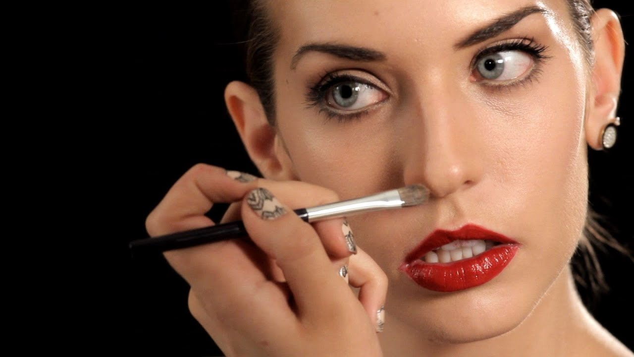 How To Make Your Nose Look Thinner Makeup Tips Youtube