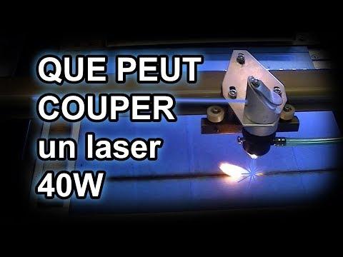 Que Peut Vraiment Couper Un Laser 40W? (K40)