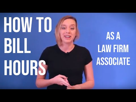 How to Bill Hours as a Law Firm Associate